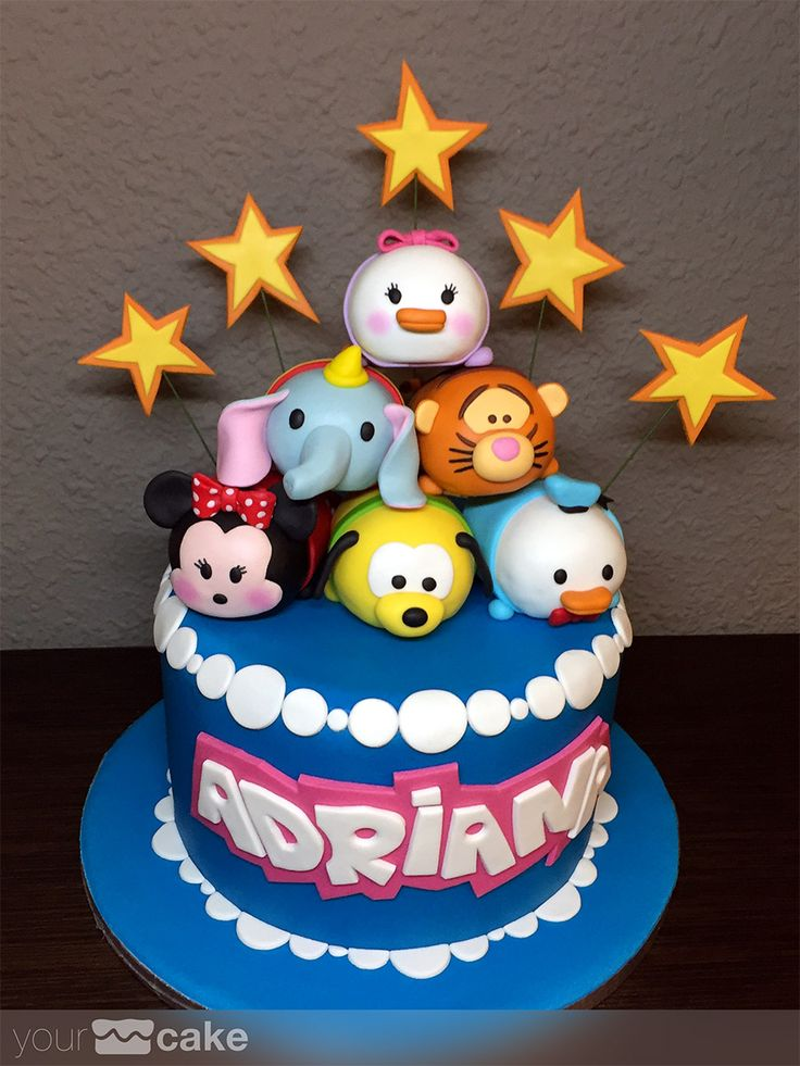 Your Cake. Tarta Tsum Tsum Disney. Fondant