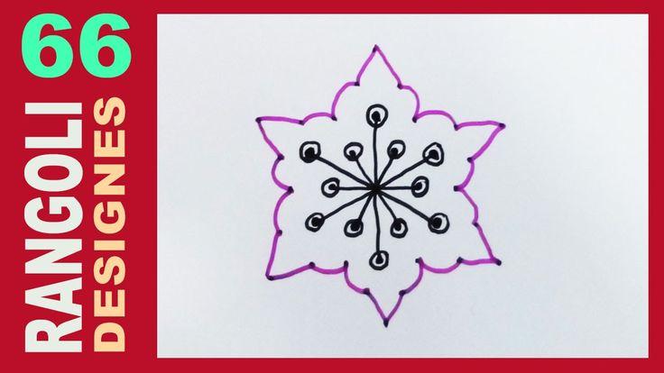 Rangoli Designs For Beginners 66 (Easy New Year / Sankranthi Ugadi Muggulu)