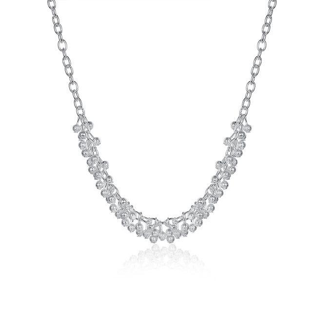 Atacado 2014 Nova Moda prata banhado a Cadeia de Areia Luz Uva Colares Para Mulheres Homens jóias SMTN210