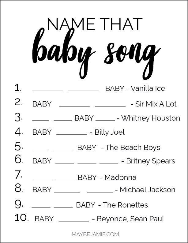 Baby Shower Game Ideas + FREE Printables