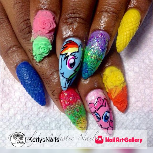 26 best Mixed Media Nail Art Designs images on Pinterest | Nails ...