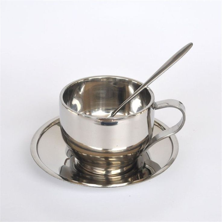 150ML stainless steel coffee mugs and tea cups / high-quality cup and saucer coffee and tea spoon combination package toolC-030A