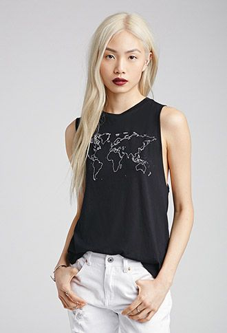 World Map Muscle Tee | FOREVER21 - 2052287891