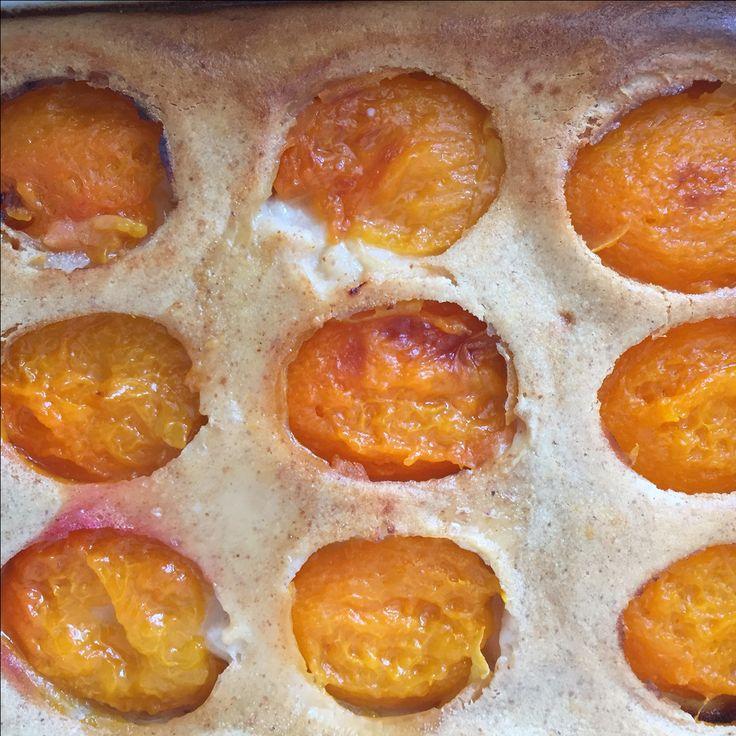Clafoutis+abricots+au+lait+d'amande