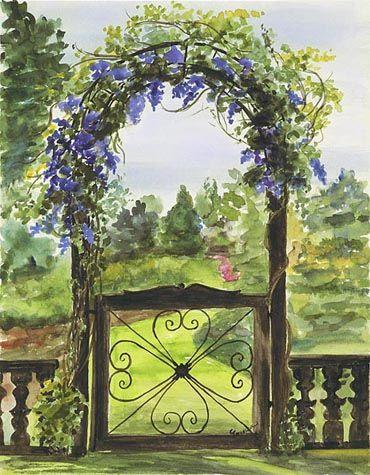Garden Gate by Cathy Johansen