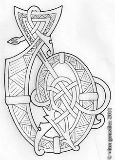 Viking woodcarving pattern
