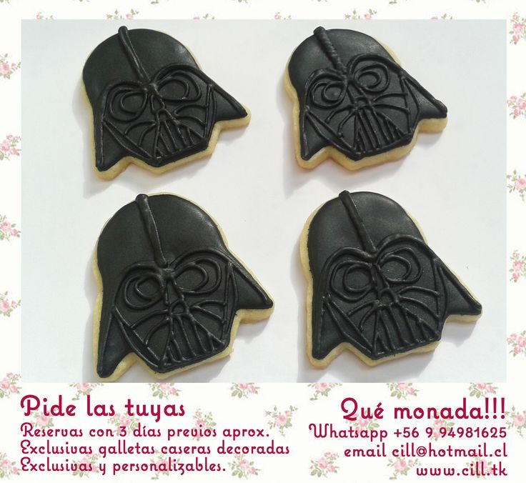 Dart Vader Cookies, Star Wars