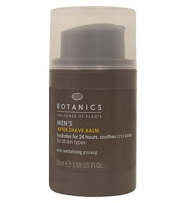 Botanics Mens After Shave Balm 50ml 10139228 16 Advantage card points. Botanics Mens After Shave Balm with Ginseng hydrates for 24 hours, soothes and cools for all skin types. FREE Delivery on orders over 45 GBP. (Barcode EAN=5045095005146) http://www.MightGet.com/april-2017-1/botanics-mens-after-shave-balm-50ml-10139228.asp