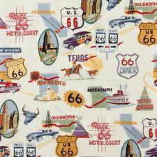 Alexander Henry Route 66 nostalgie NOVELTY ROAD TRIP Cruisin tissu-naturel