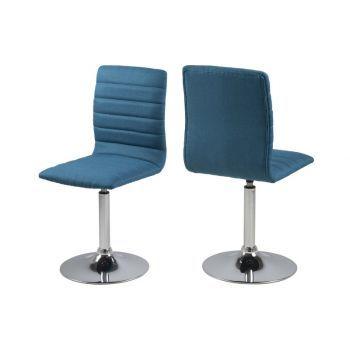 Scaun metalic tapitat cu stofa Piper Petrol bucatarie - articole de mobilier pentru bucatarie de o calitate speciala. #bucatarie #chairs #DecoStores #homedecor #decoratiuniinterioare #scaune #scaunebucatarie #kitchenchairs #kitchenfurniture
