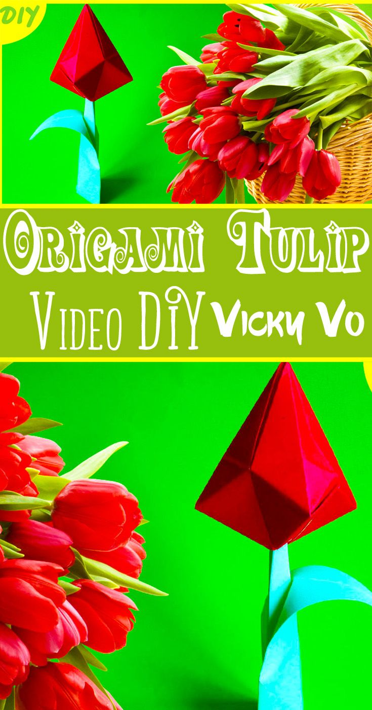 Diy tulip origami flower flowerdiy diyflower diyflowers diy tulip origami flower flowerdiy diyflower diyflowers papertulip papertulips origamitulip jeuxipadfo Image collections