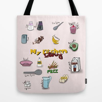 My kitchen story Tote Bag by ywanka - $22.00