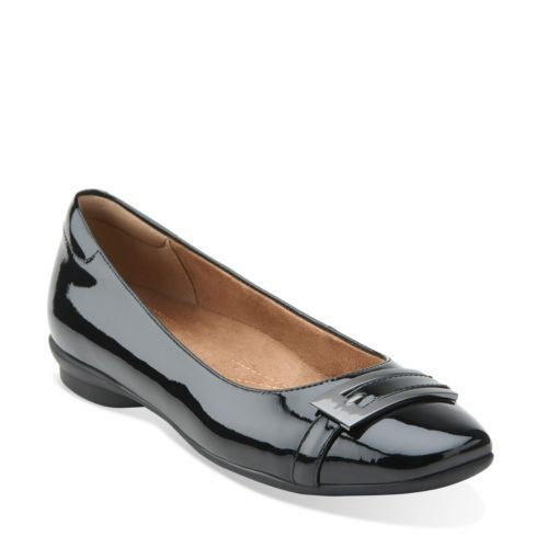 Candra Glare Black Patent Leather - Clarks Womens Shoes - Womens Heels and  Flats - Clarks