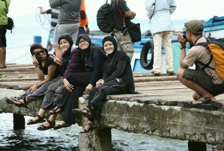 Here, i'm at Centi Jetty Lampung #Indonesia.