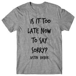 Blusa Justin Bieber - Sorry