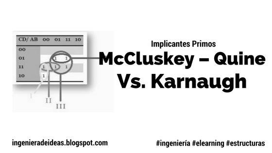 Implicantes Primos: McCluskey – Quine Vs. Karnaugh - Ingeniera de Ideas