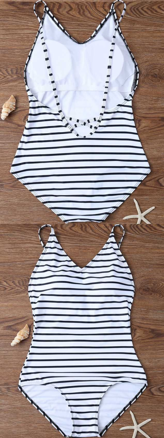 swimsuit one piece modest monokini curvy swimwear slimming summer beach outfits striped bikini stripes trikini black and white bathing suit. Save up to 30% OFF Sitewide by code SUMMER20%OFF