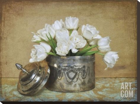 Vintage Tulips II Stretched Canvas Print by Cristin Atria at Art.com