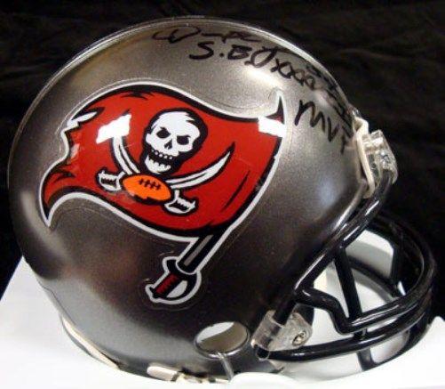 """Dexter Jackson Autographed Tampa Bay Buccaneers Mini Helmet """"SB XXXVII MVP"""" PSA/DNA Stock"""