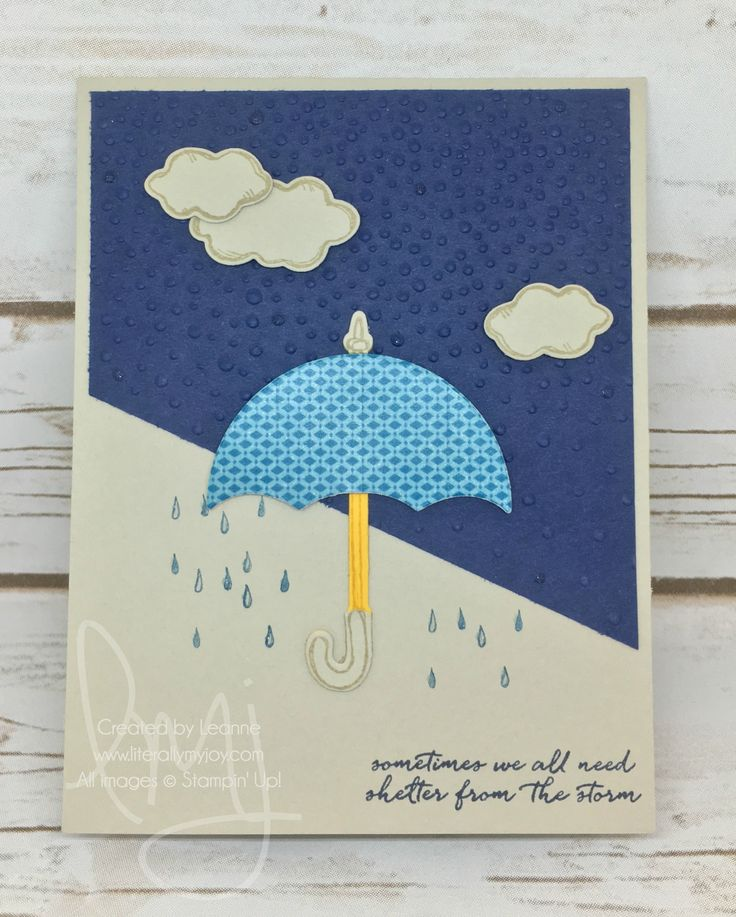 I'm Here for You | Stampin' Up! | Weather Together #literallymyjoy #umbrella #rain #shelter #storm #20162017AnnualCatalog