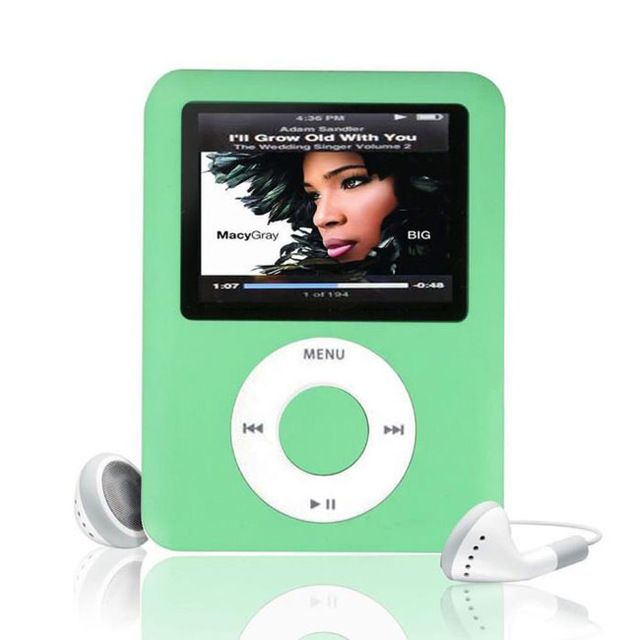 ssdfly Hot High Quality MP4 With Earphones 1.8inch Screen LCD Media Video Game Movie FM Radio 3th Generation MP4 Music Player