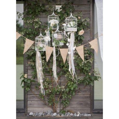 Guirlande fanion toile de jute 3 M, guirlande fanions toile de jute naturelle, banderole toile de jute déco mariage, fêtes
