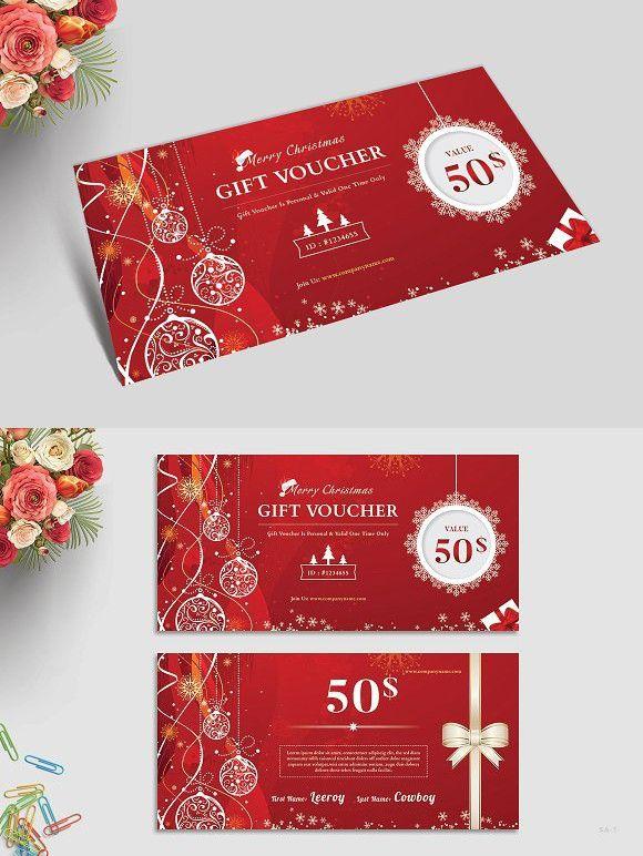 Christmas Gift Voucher Best Card Templates Christmas gift