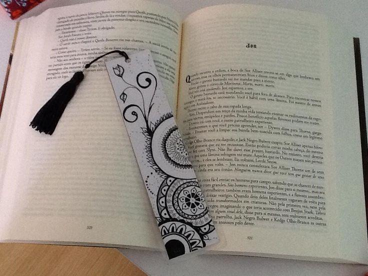 Presenteada: Loise. #zentangle #bookmark #Marcadordepagina