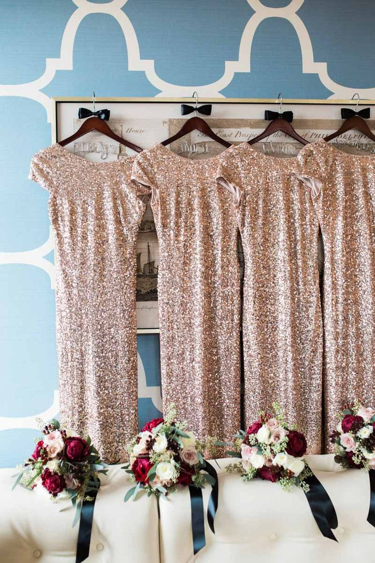132 best bridesmaid style images on pinterest bridesmaids elegant holiday wedding at the atrium at curtis center in philadelphia pennsylvania gold glitter bridesmaid dressesthe ombrellifo Image collections