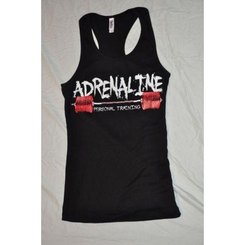 Adrenaline Personal Training Tank top. Bella ladies raser back tank top. 98% cotton 2% spandex. #adrenalineapparel #tanktops #ladiestanks #crossfit