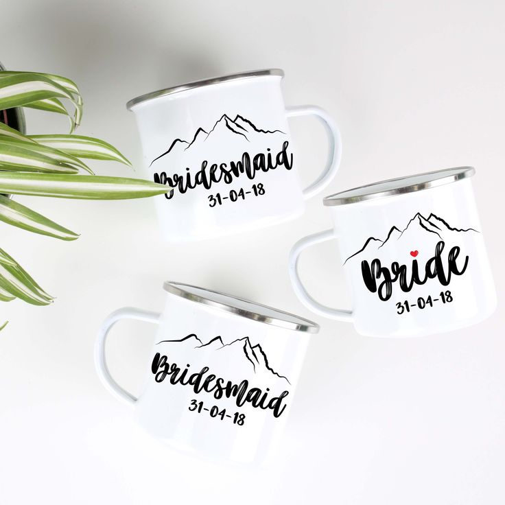 Bridesmaid Mug Maid of Honor Mug Camp Mug Bridal Party Campfire Mug Bridesmaid Proposal Gift Bridesmaid Mug Bride Mug Mountain Wedding