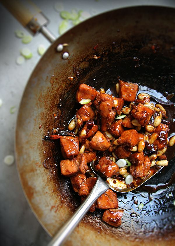 "This Sichuan dish—often better known by its Americanized name ""kung pao chicken""—is only moderately spicy. Read more at http://www.saveur.com/article/Recipes/Kong-Bao-Ji-Ding#jFMWSKdKU0ybYVLI.99"