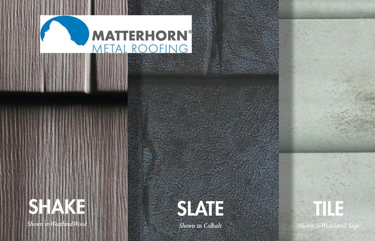 Made in USA!! Matterhorn Metal Roof System from Certainteed.. Shake, Slate, and Tile styles..Not your typical standing seam metal roof!!