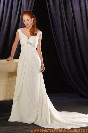 Elegantes und schlichtes Brautkleid aus Satin A-linie mit Kristall kaufen online