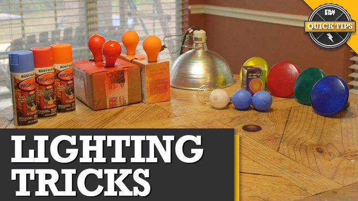 Quick Tips: DIY Lighting Tricks with household lights.