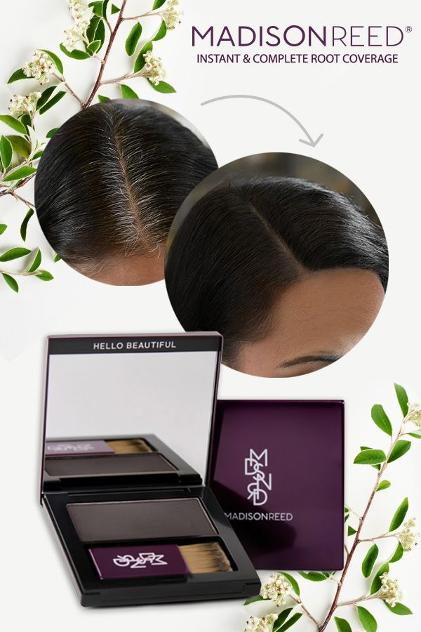 Are your roots showing? Get discreet and complete root coverage in a convenient powder compact. It's long-lasting, water-resistant & pillow-resistant, lasts for up to 60 uses, and stays put until washed out.