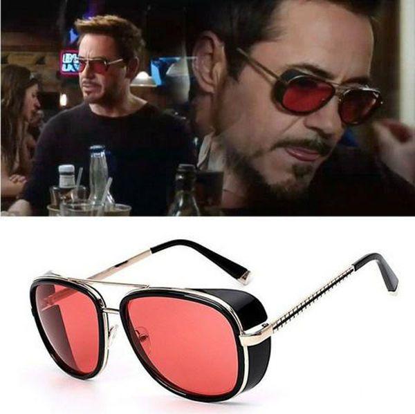 TONY STARK SUNGLASSES - Iron Man Steampunk Sunglasses Vintage Masculine Elegant #IRONMAN #Vintage