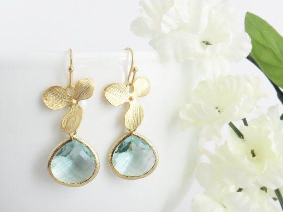 Aquamarijn oorbellen met Aquamarijn Birthstone, Aquamarijn sieraden, maart Birthstone, moeders dag geschenk, cadeau voor moeder, oorringen van het bruidsmeisje, moeder