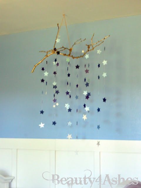 ~fantastic star mobile would look great in teenage girls room. ~mine to be exact. * *use a branch