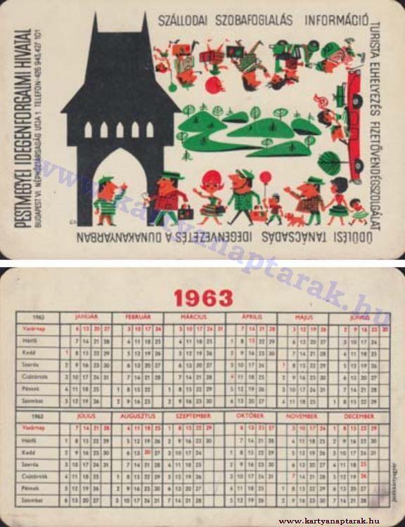 1963 - 1963_0098 - Régi magyar kártyanaptárak