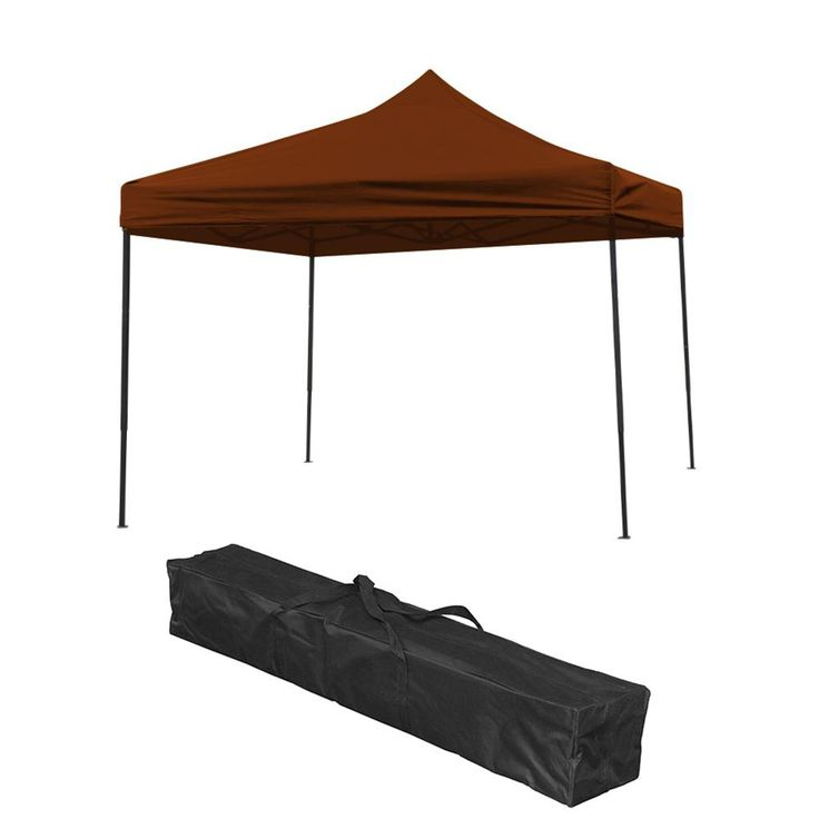 Trademark Innovations 10 ft. x 10 ft. Brown Lightweight and Portable Canopy Tent Set