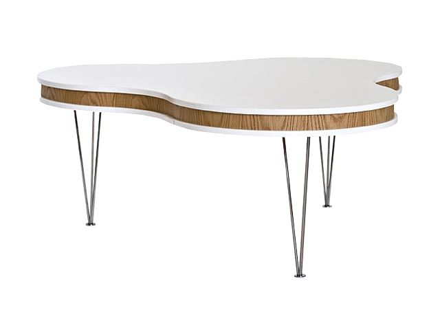 HUGO Soffbord Treklöver 115 Vit/Ek i gruppen Inomhus / Bord / Soffbord hos Furniturebox (100-13-80250)