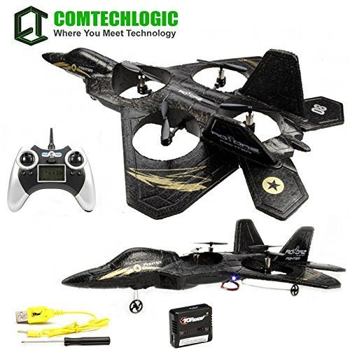 Comtechlogic CM-2219 F2 Super Fighter RC Radio Remote Control Jet Drone Quadcopter with Built in Gyro andamp
