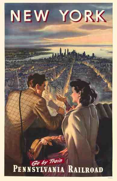 Vintage New York Pennsylvania Railroad Poster ~Repinned Via Shan Octavio