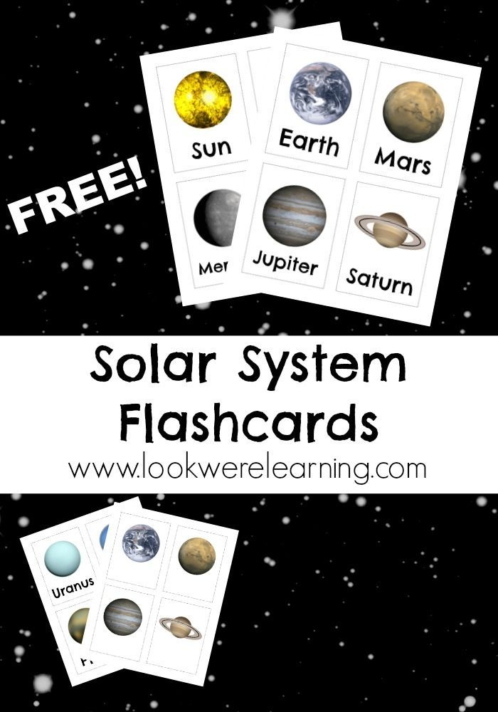 Use these beautiful free printable solar system flashcards to talk about the planets with your kids! Plus, check out a fun, hands-on activity you can do!