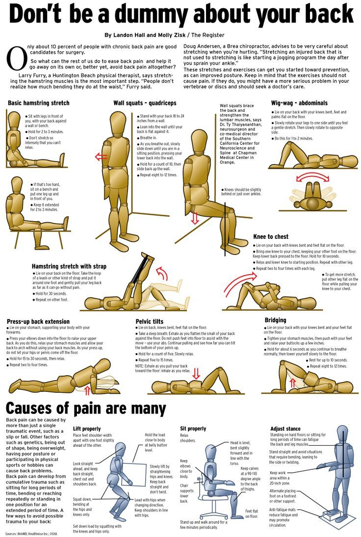 44 best Back pain exercises images on Pinterest | Back ...