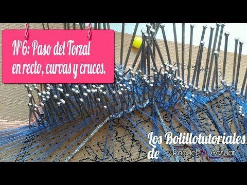 Abanico.Bolillotutorial 6: Paso del Torzal en curvas, recto y cruces. Raquel M. Adsuar - YouTube