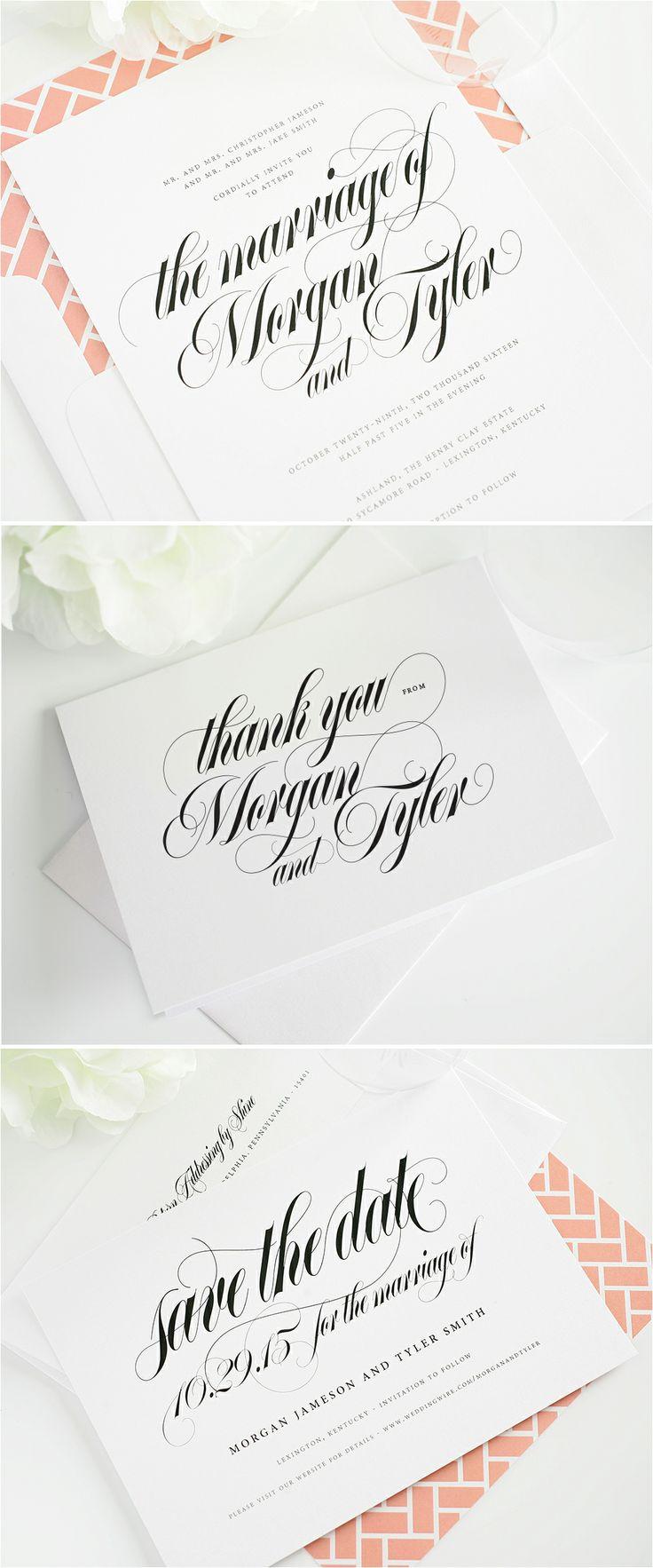 calligraphy names wedding invitations #stationery #calligraphy #invitations #wedding http://www.shineweddinginvitations.com/wedding-invitations/calligraphy-names-wedding-invitations