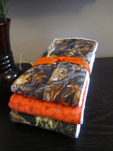 PREMIUM 6 ply burp cloth diapers camoflage by TMLcreates on Etsy, $12.50