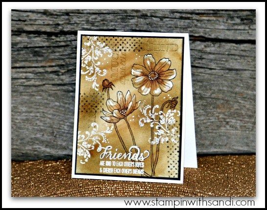 Stampin Up Helping Me Grow and the Sepia Watercolor Technique by Sandi @ www.stampinwithsandi.com